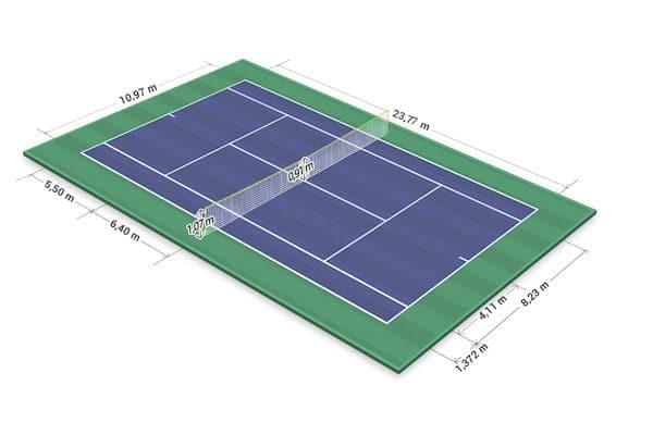 diện tích sân tennis